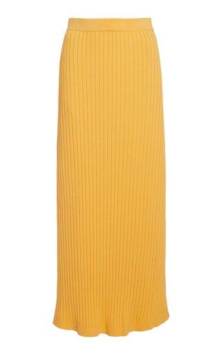 Ariana Ribbed-Knit Maxi Skirt