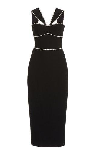 Crystal-Embellished Crepe Maxi Dress