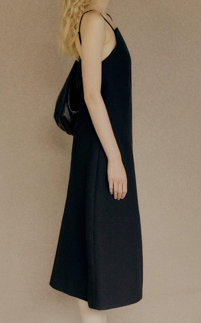 Curved Cotton-Blend Midi Dress