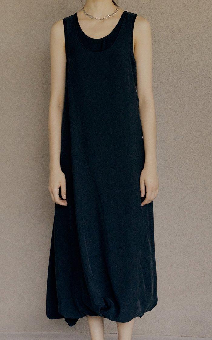 Layered Twisted Modal-Blend Midi Dress