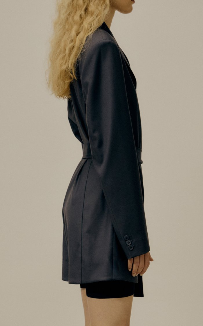 Wool-Blend Blazer Jumpsuit