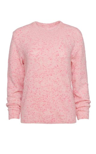 Speckled Cashmere-Blend Crewneck Sweater