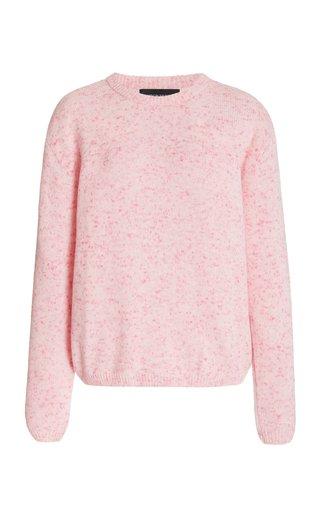 Speckled Cashmere-Blend Crewneck Sweater