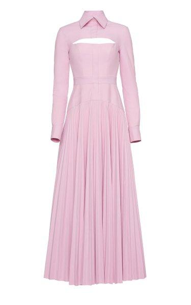 Convertible Cotton-Blend Midi Shirt Dress