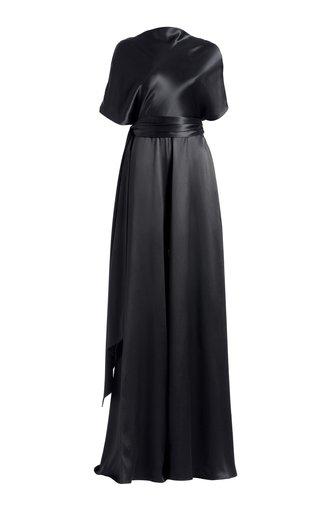 Wide-Leg Belted Silk Jumpsuit