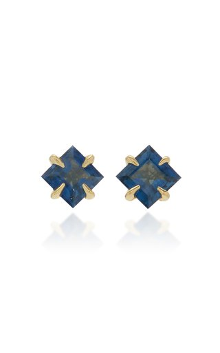 Primary Princess 14K Gold Blue Sapphire Earrings