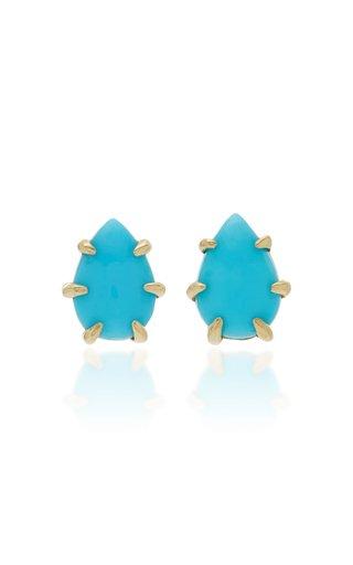 Ikeya 14K Gold Turquoise Earrings