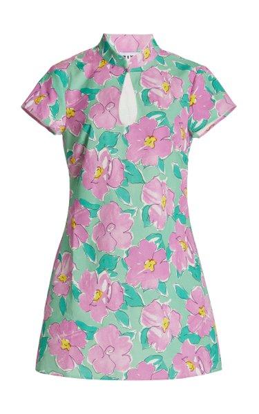 Lolita Floral Cotton Mini Dress