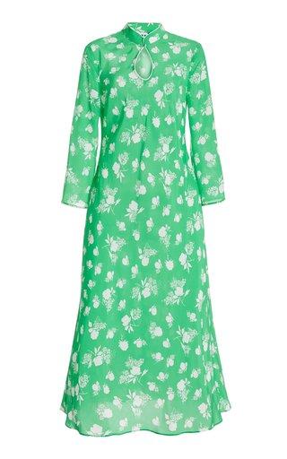 Sophia Floral Silk Midi Dress