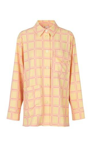 Silvi Check-Print Crepe Shirt