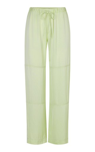 Gulcan Crepe Drawstring Wide-Leg Pants