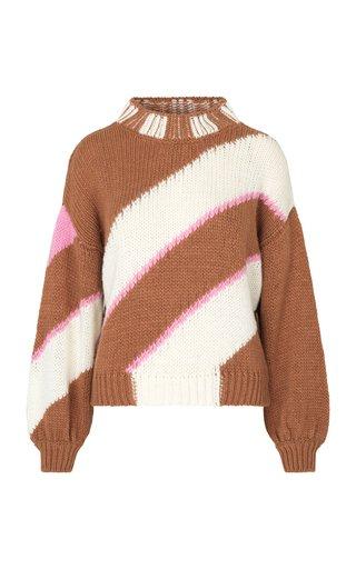 Adonis Oversized Striped Intarsia-Knit Sweater