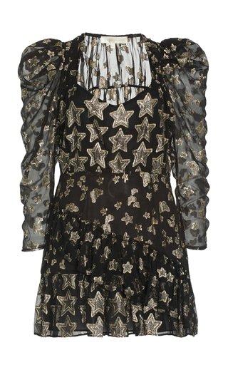 Caden Metallic Fil Coupe Mini Dress