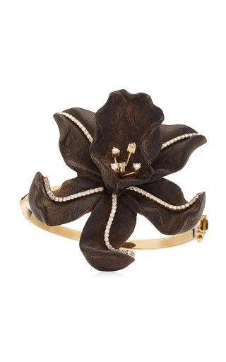 Orchid 18K Yellow Gold Ebony, Diamond Bracelet