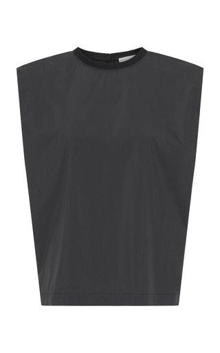 Christie Bold-Shoulder Cotton-Blend Poplin Top