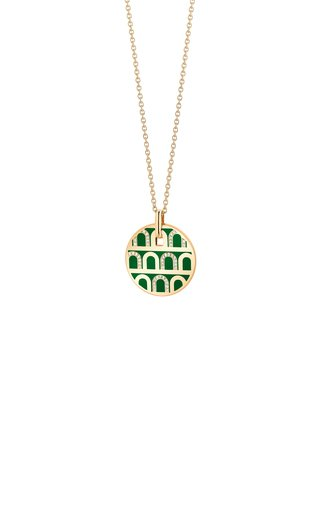 L'Arc 18K Yellow Gold, Lacquered Ceramic and Diamond Necklace