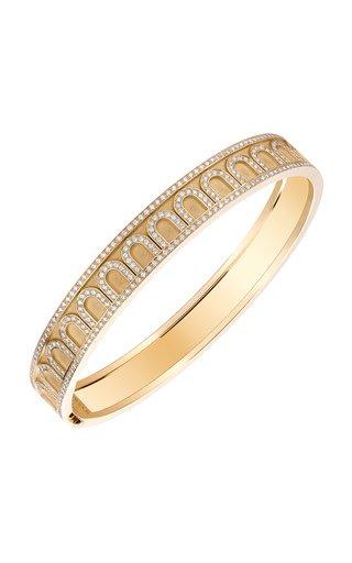 L'Arc 18K Yellow Gold Diamond Bangle