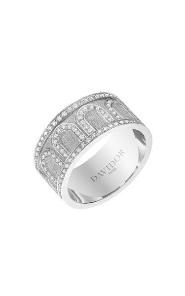 L'Arc 18K White Gold Diamond Ring