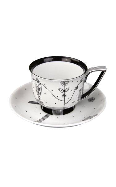 Coffee Cup On Feet & Saucer 0,2L