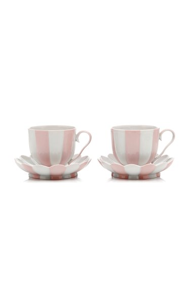 Set Of 2 Large Cups And Saucers
