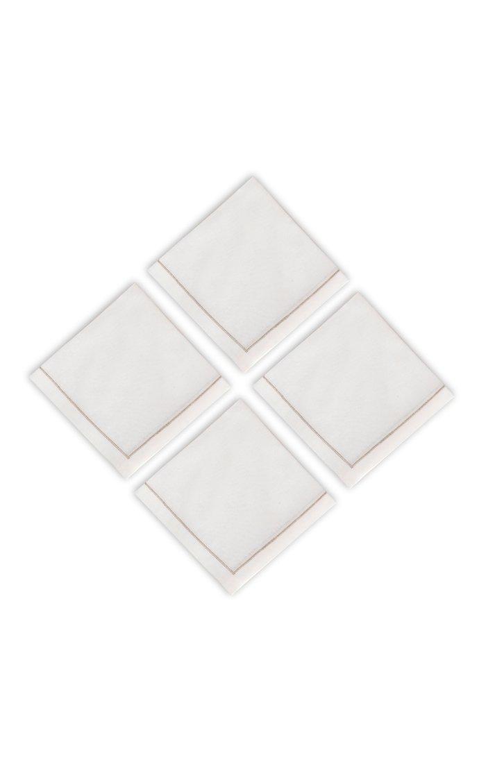 Set Of 4 Silver Napkins