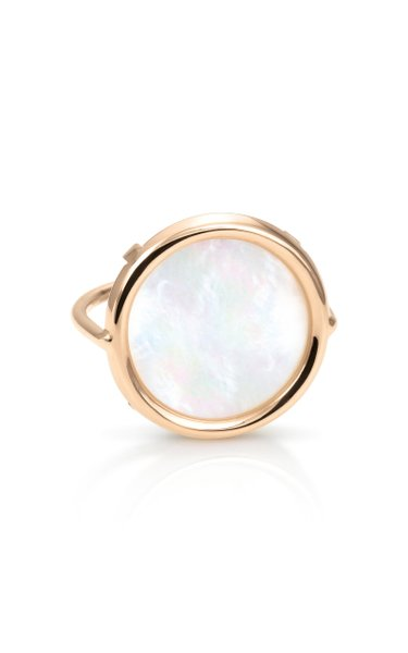 18K Rose Gold Mother-Of-Pearl Disc Ring