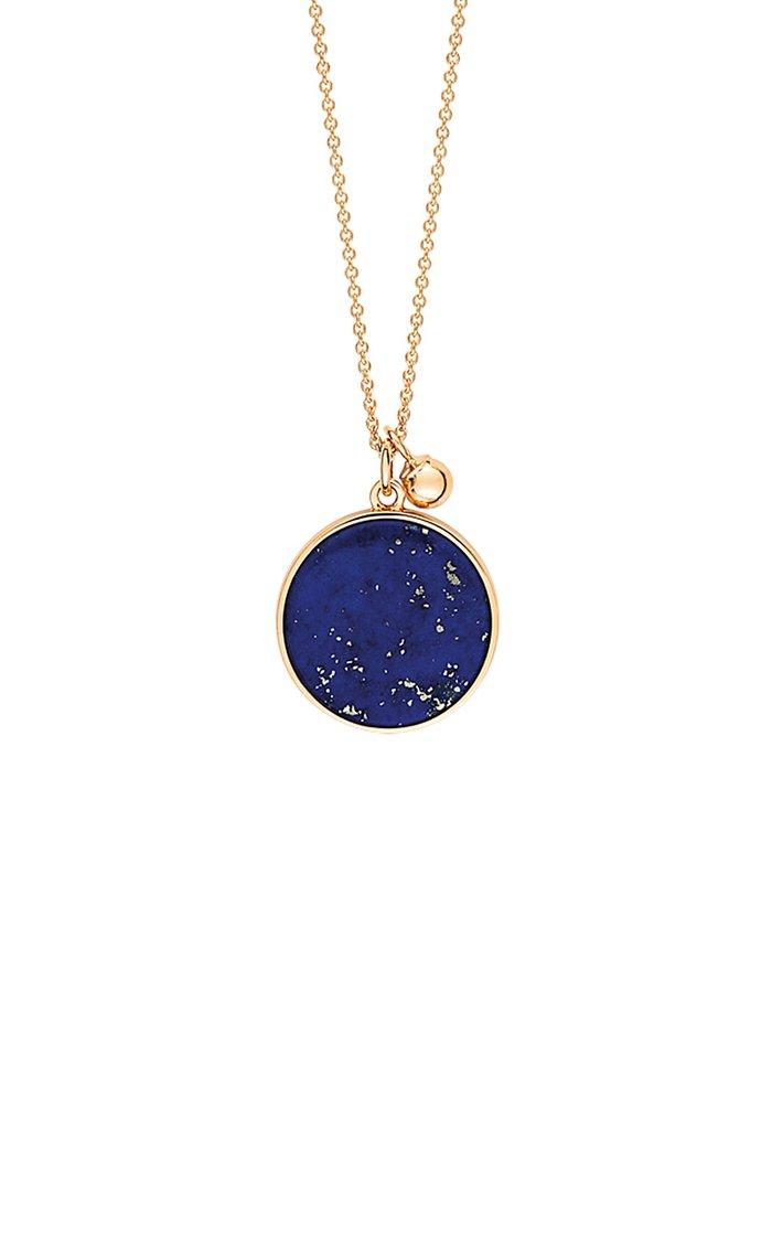 Ever 18K Rose Gold Lapis Disc Necklace