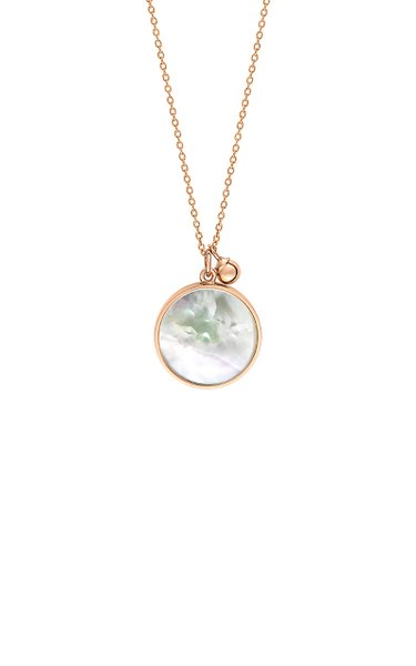 Maria 18K Rose Gold Mother-Of-Pearl Disc Necklace