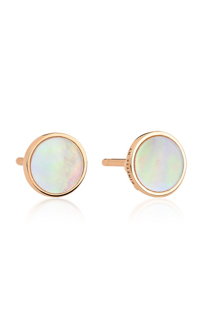Ever 18K Rose Gold Mother-Of-Pearl Disc Earrings