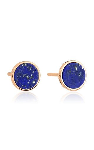 Ever 18K Rose Gold Lapis Disc Earrings