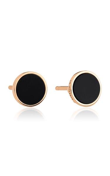 Ever 18K Rose Gold Onyx Disc Earrings