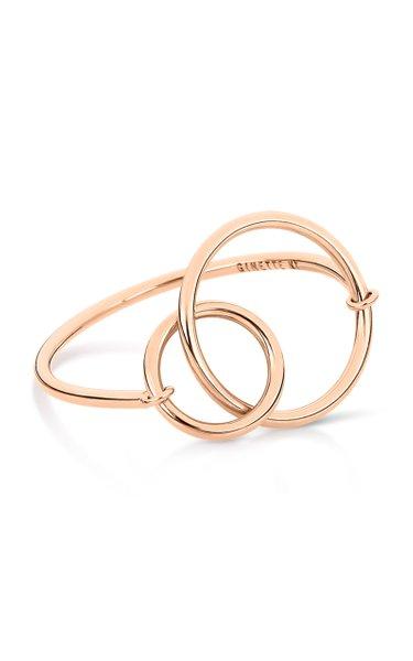 Tiny Circle 18K Rose Gold Ring