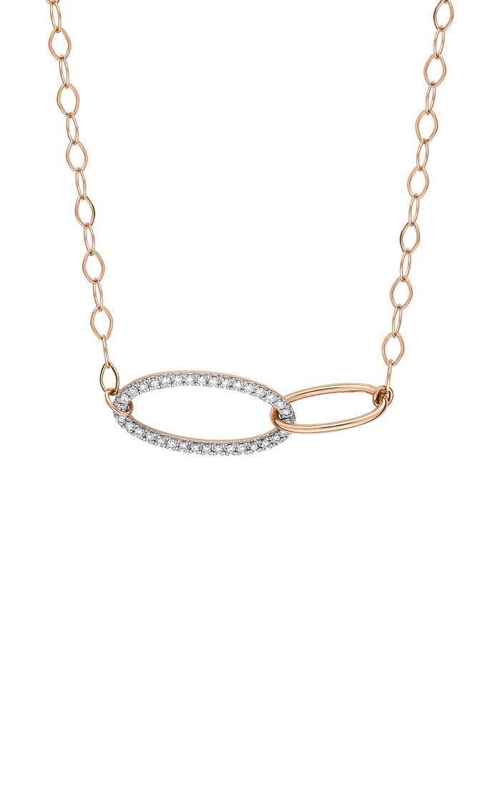 Ellipse 18K Rose Gold Diamond Fusion Necklace