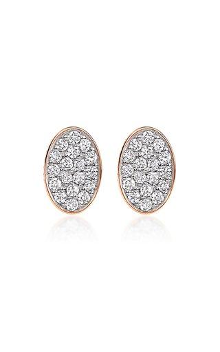 Sequin 18K Rose Gold Diamond Earrings