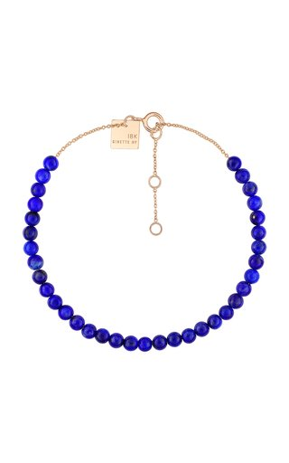 Mini Maria 18K Rose Gold Lapis Bracelet