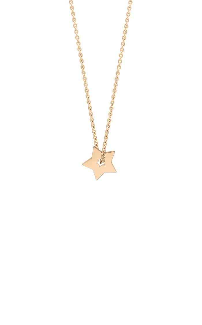 Mini Open Star 18K Rose Gold Necklace