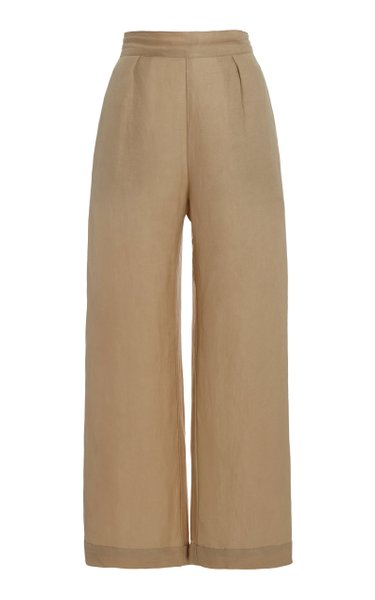 The Keaton Linen-Blend Wide-Leg Pants