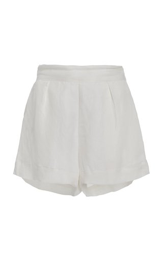 The Linen-Blend Short Shorts