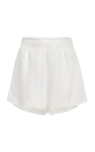 The Linen-Blend Short Shorts