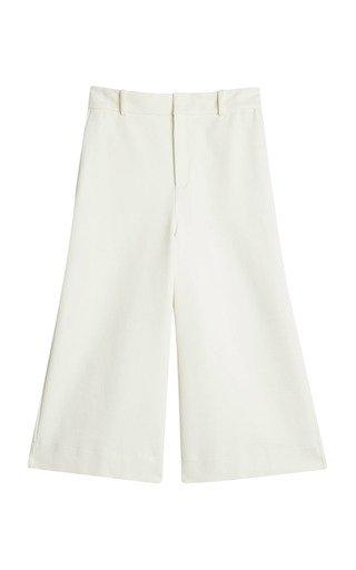 Elgo Twill Cropped Wide-Leg Pants