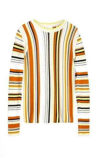 Daria Striped Cotton-Blend Knit Top