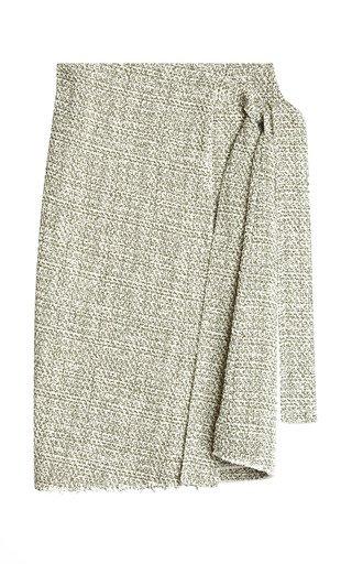Alla Mélange Tweed Midi Wrap Skirt