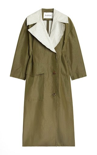Magda Raw-Edge Double-Faced Linen-Blend Coat