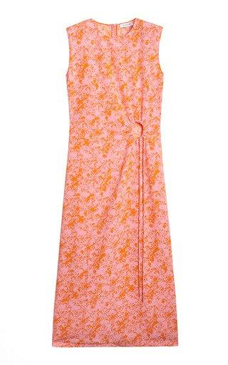 Lucja Cutout Floral Crepe Midi Dress