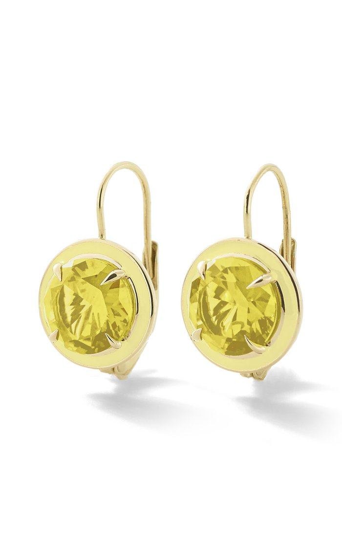 Yellow Sapphire Round Cocktail Earrings