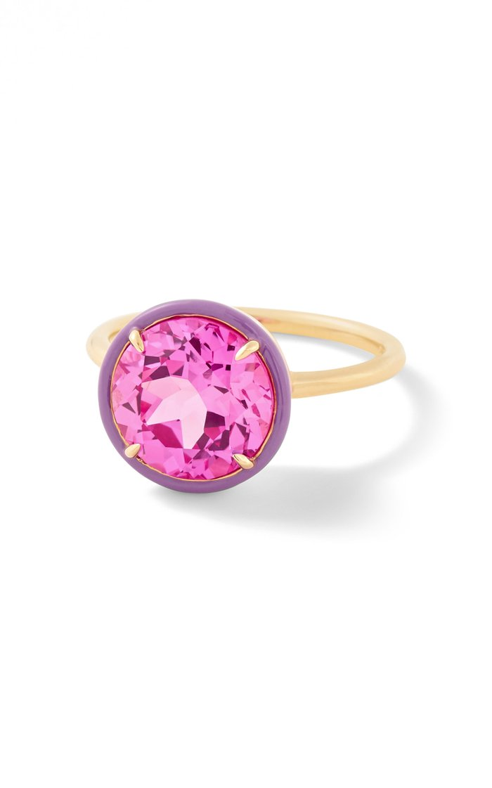 Pink Sapphire Round Cocktail Ring