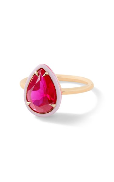Ruby Pear Cocktail Ring