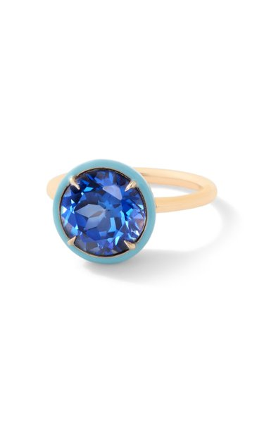 Blue Sapphire Round Cocktail Ring