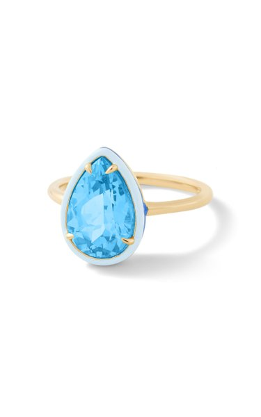 Blue Topaz Pear Cocktail Ring