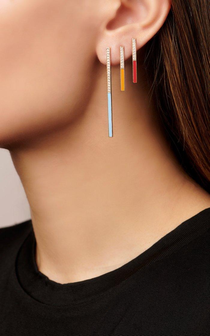 Large Linear Earrings